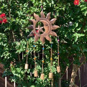 Celestial Wooden Wind Chime Sun Catcher Mobile